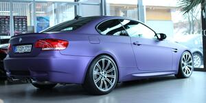 BMW Violett Matt Metallic Folierung