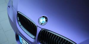 BMW Purpur Matt Metallic Folierung