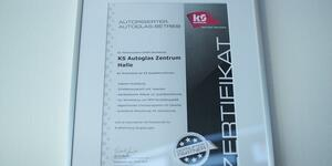 Zertifikat für professionelle Dienstleistung im Bereich des Autoglases